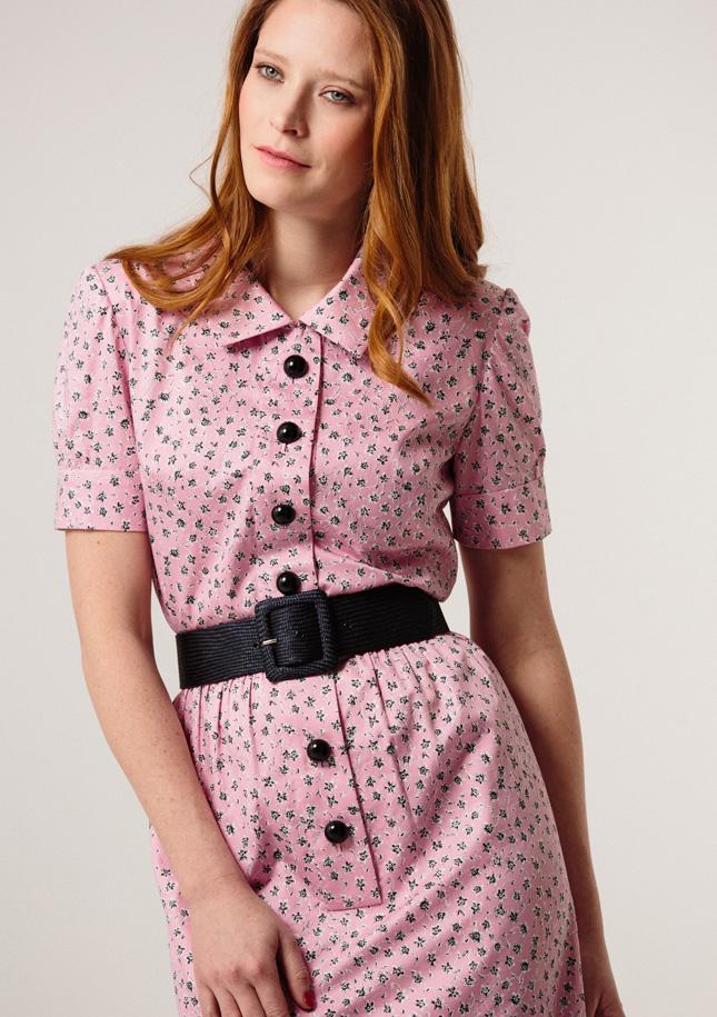 Pink Cotton Shirt Dress 1